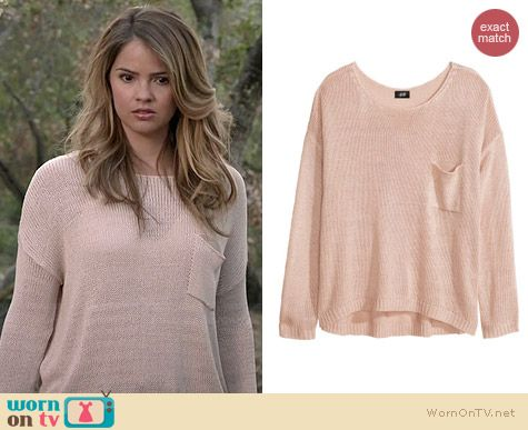 Malia's light pink knit sweater on Teen Wolf. Outfit Details: http ...