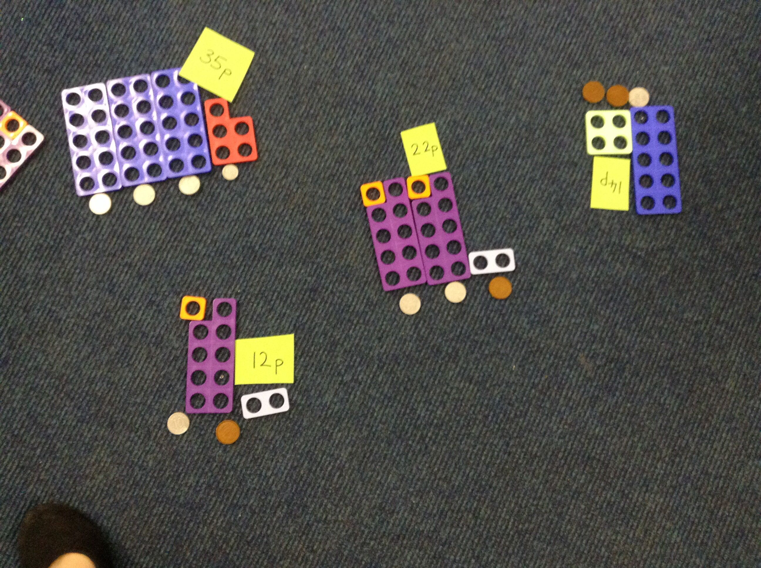 Finding Totals Using Numicon And Coins