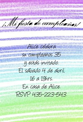 """Mi Fiesta De Cumpleaños""  printable invitation template. Customize, add text and photos. Print or download for free!"