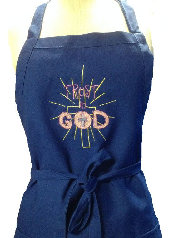 Trust in god with a cross apron great easter gift apron made great easter gift apron made negle Images