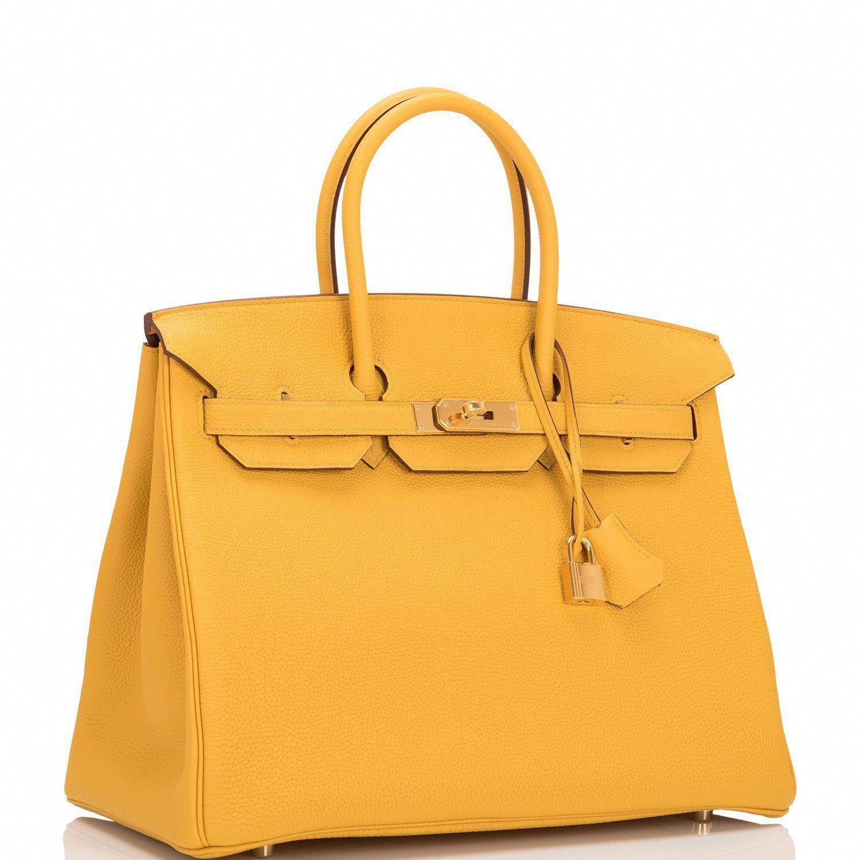 075a74ada0 Hermes Jaune Ambre Togo Birkin 35cm Gold Hardware  Designerhandbags ...