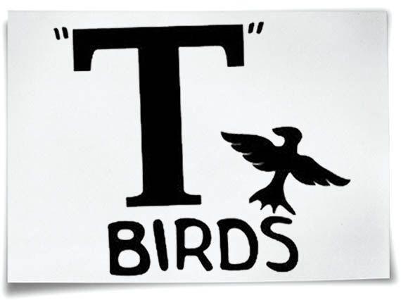 T-Birds Iron On T-Shirt Transfer Grease Jacket T-Bird John