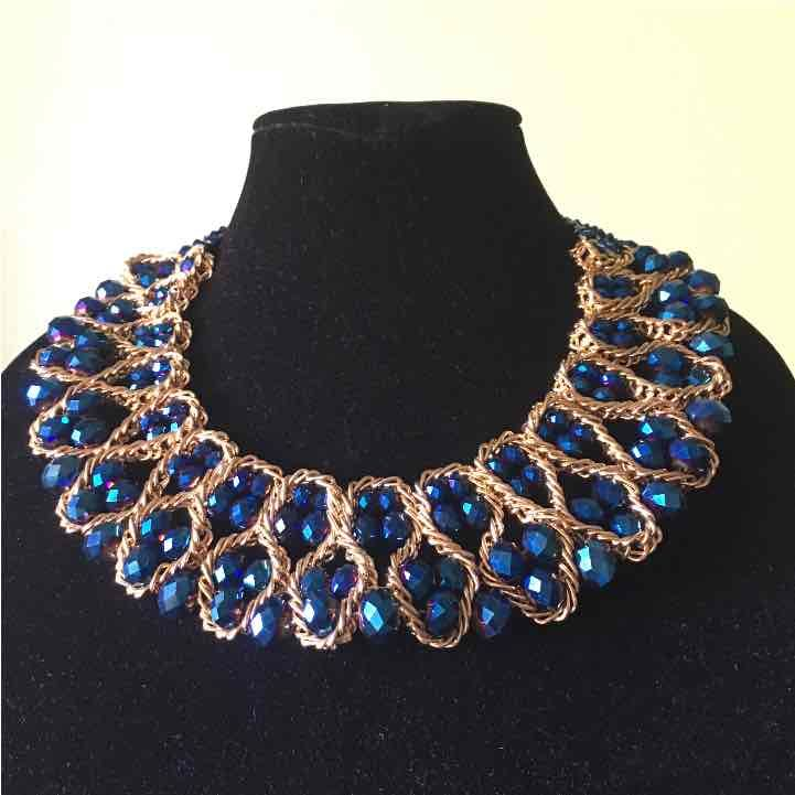 Glass bead bib necklace Mercari Anyone can buy & sell
