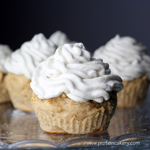 Very Vanilla Protein Cupcakes - Andréa's Protein Cakery