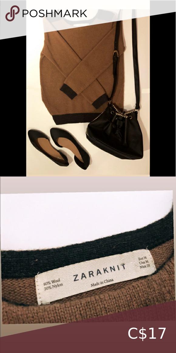 Duo colour Zara wool Knit Sweater 2/25$✨Duo colour