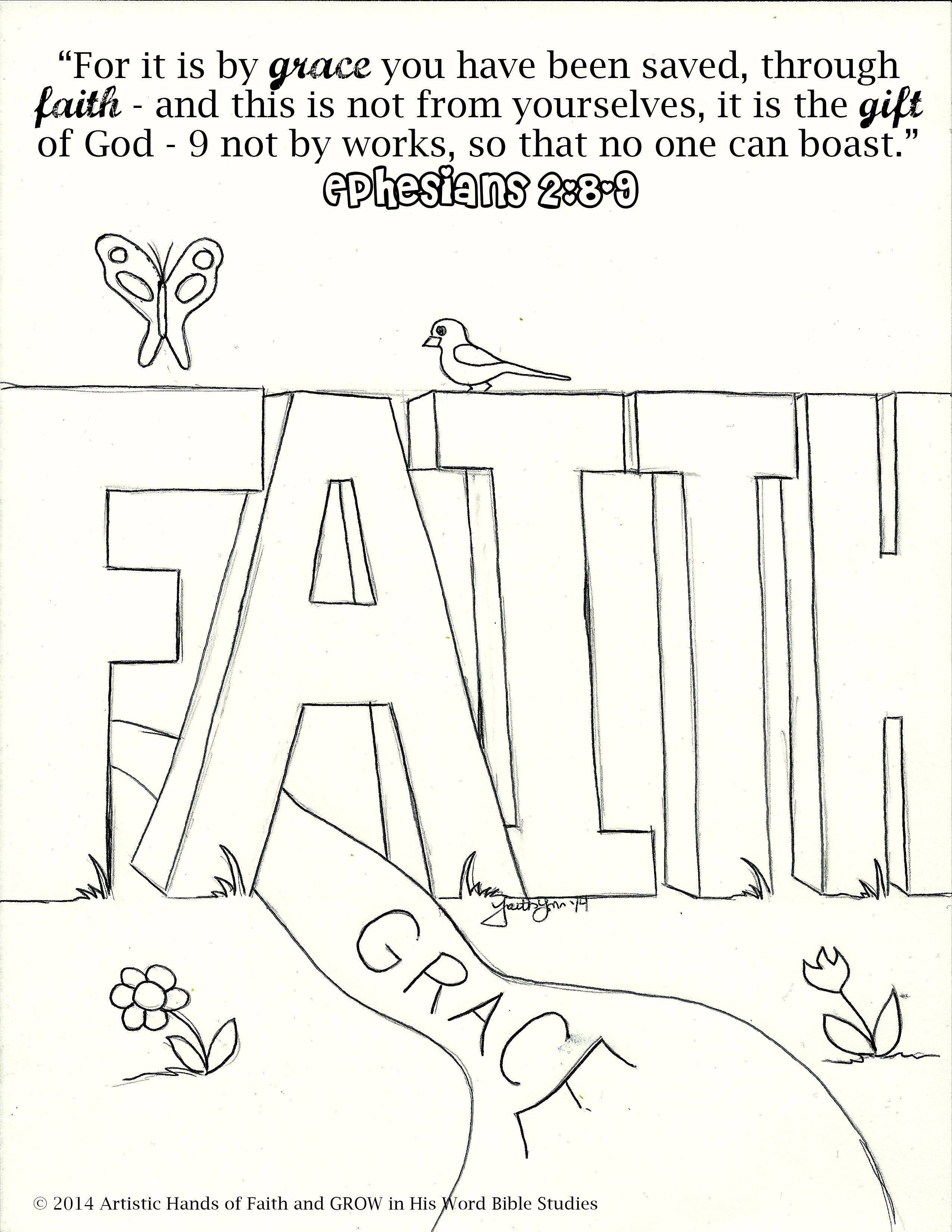 faith coloring pages - photo#20