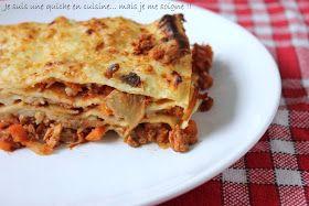 Je suis une quiche en cuisine... mais je me soigne !!: Mes lasagnes bolognaises végétariennes