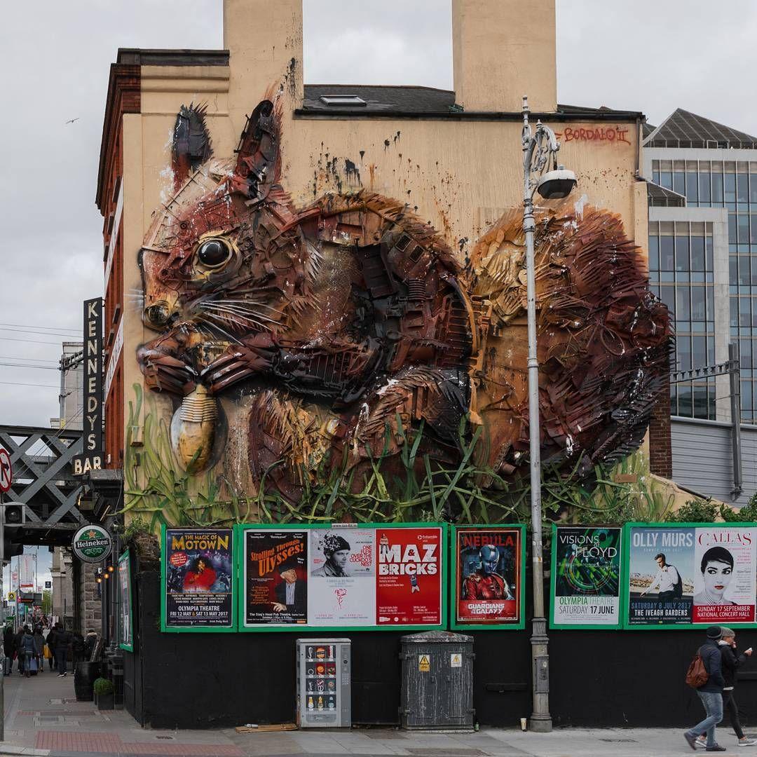 Graffiti wall dublin - Bordalo Ii Dublin Ireland