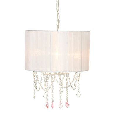House Of Hampton Delphos Beaded 25w Max Plug In Drum Chandelier With Hard Wire Kit Included Beaded Chandelier Pendant Lamp Chandelier