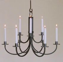 Real Candle Chandelier By The Metal