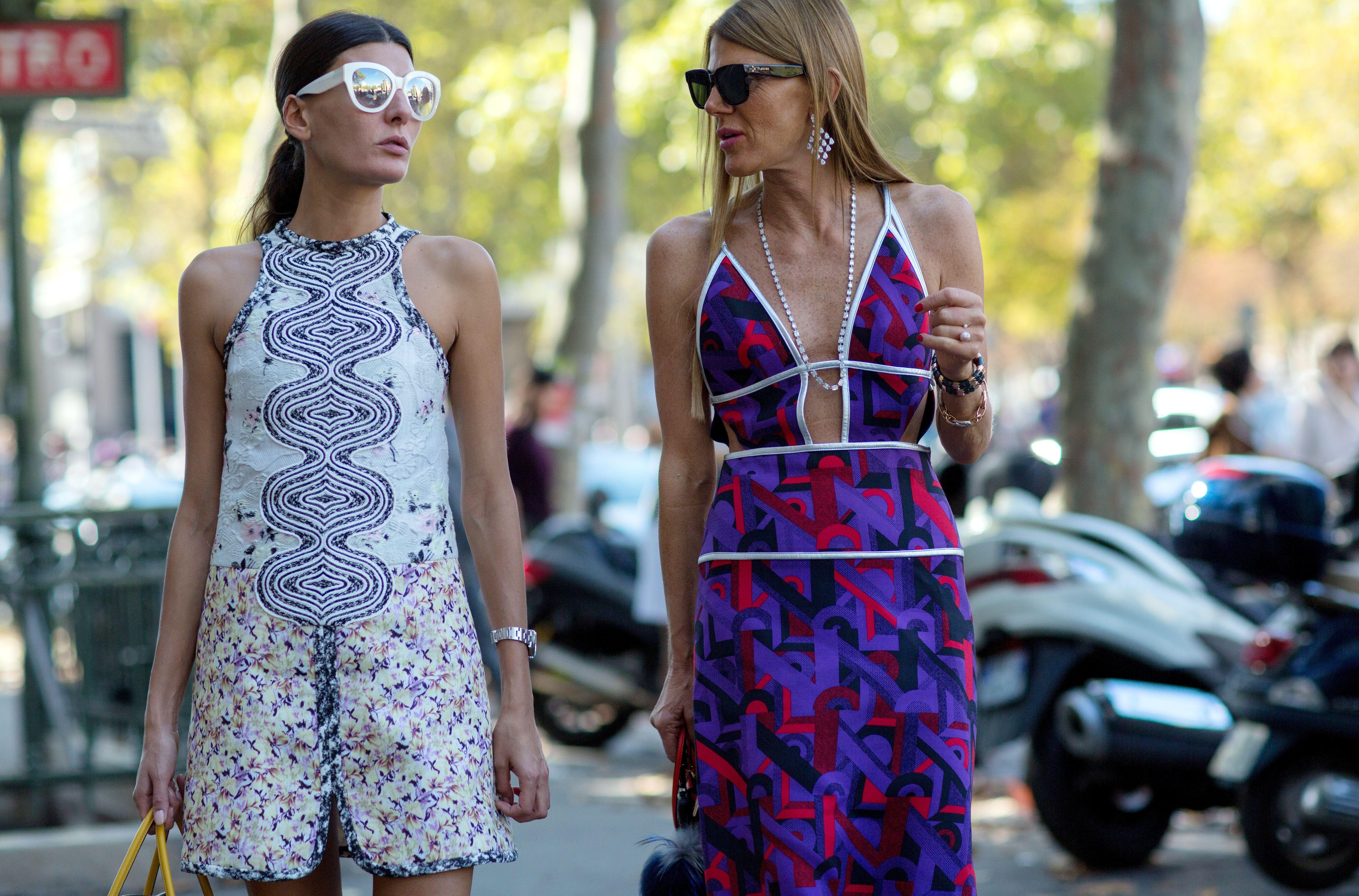 Paris Fashion Week – Spring/Summer 2015 – Streetstyle~ Giovanna Battaglia,Anna dello Russo