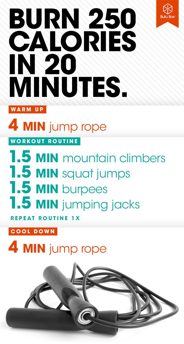 Burn 250 Calories in just 20 Minutes!! | Calorie burning ...