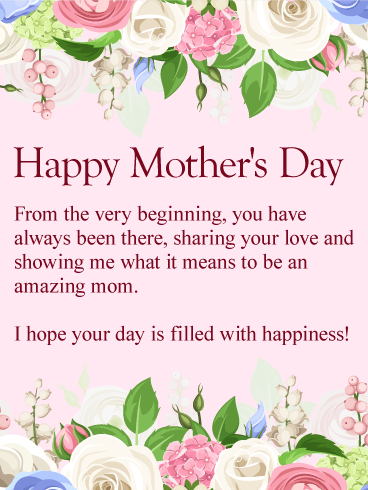 To My Amazing Mom Happy Mother S Day Card Birthday Greeting Cards By Davia Mother Day Wishes Happy Mothers Day Wishes Happy Mother Day Quotes