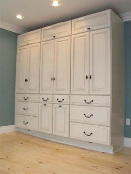 Stock kitchen cabinets reused as a bedroom built in - great ...
