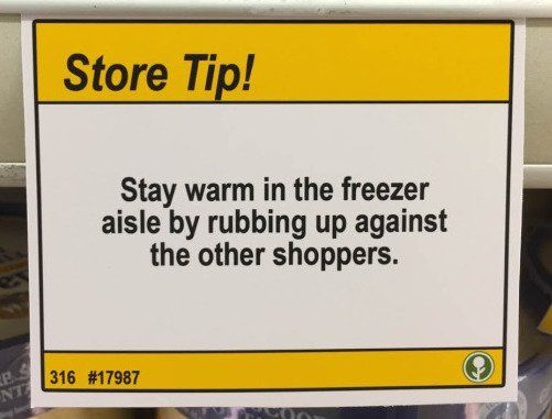 Comedian leaves humourous shopping tips at grocery store