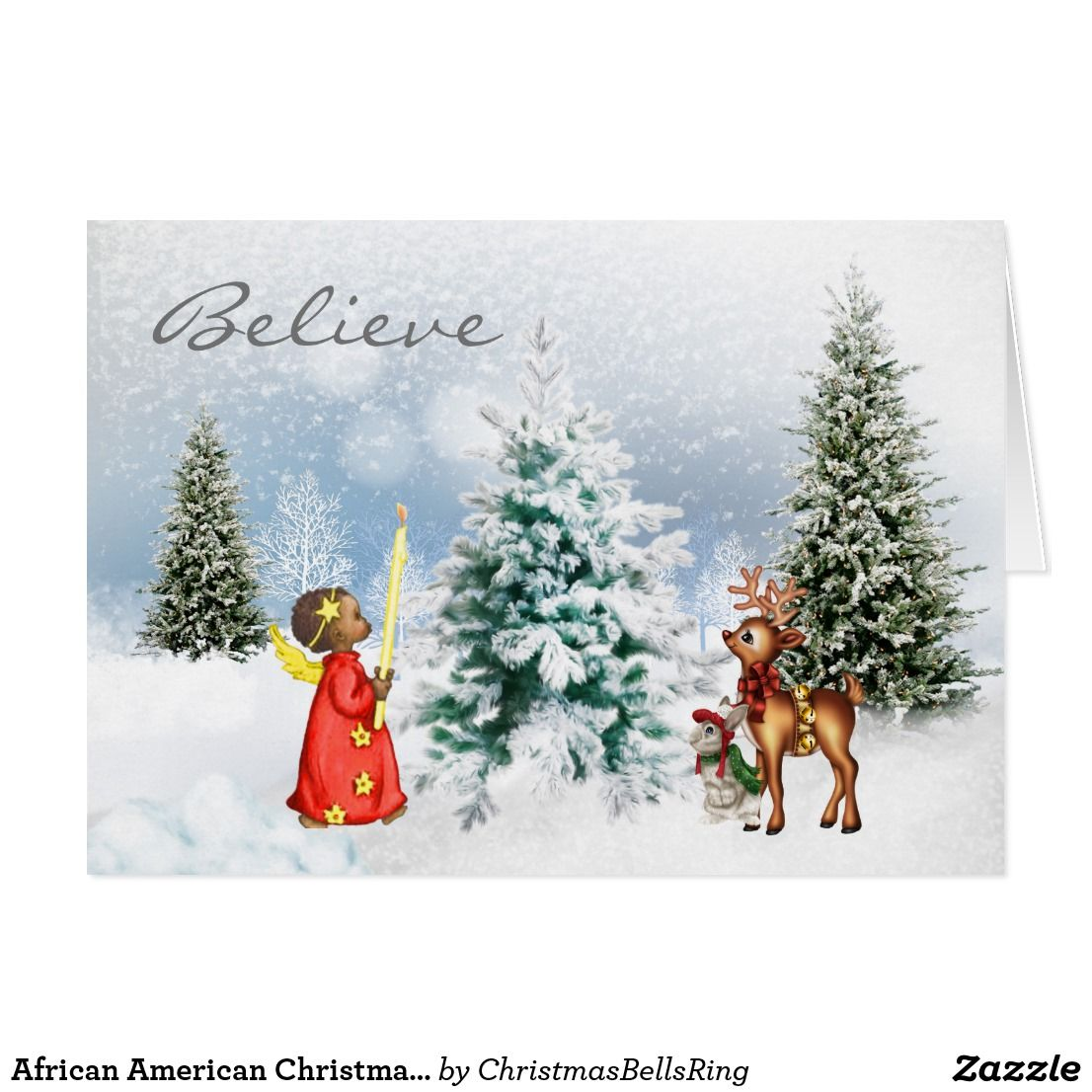 African American Christmas Card Christmas Cards Stickers Postage
