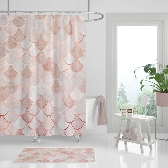 Shower Curtain Set Moroccan Mermaid Scale Create Your Own Set