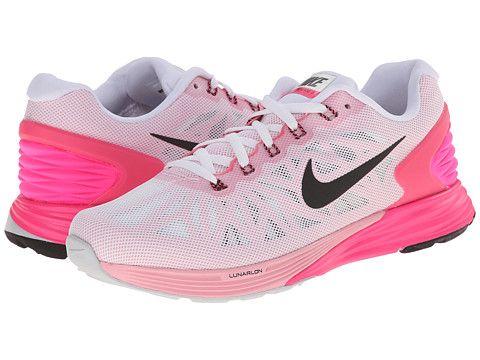 cc0250f6a497 Nike Lunarglide 6 White Pink Pow Space Pink Black - Zappos.com Free  Shipping BOTH Ways