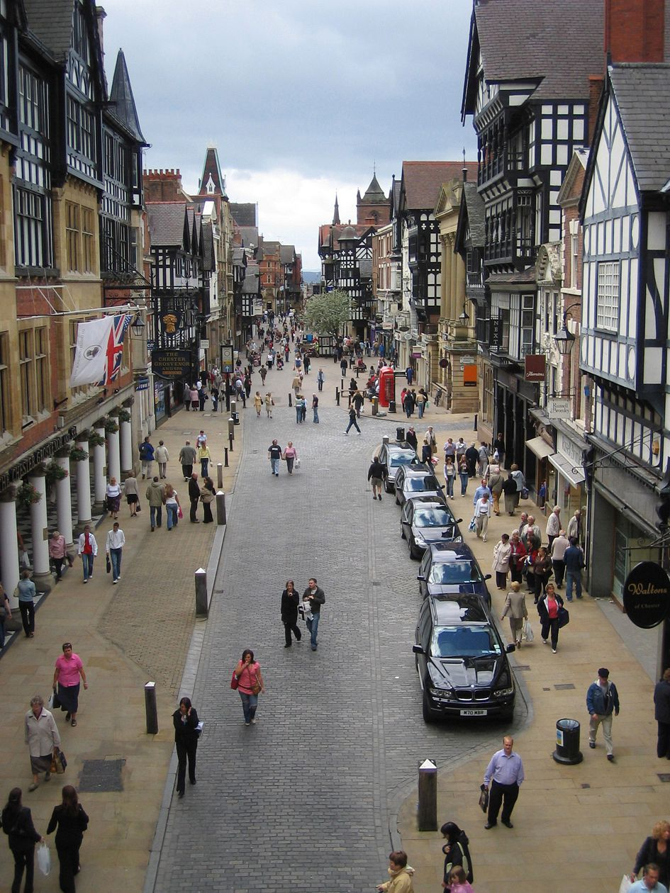 Eastgate Street, Chester, United Kingdom (Shared Space ...