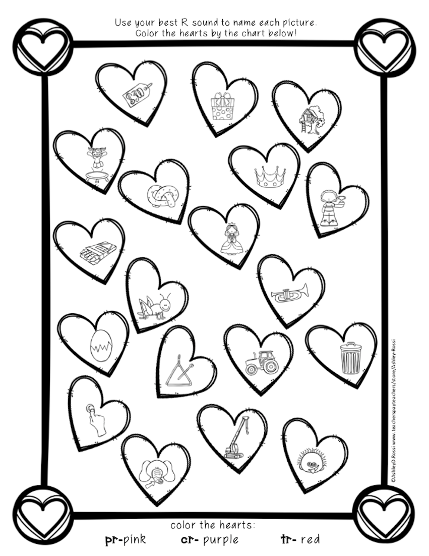 FREE Valentine\'s Day R Blends for Speech Therapy. No Prep ...