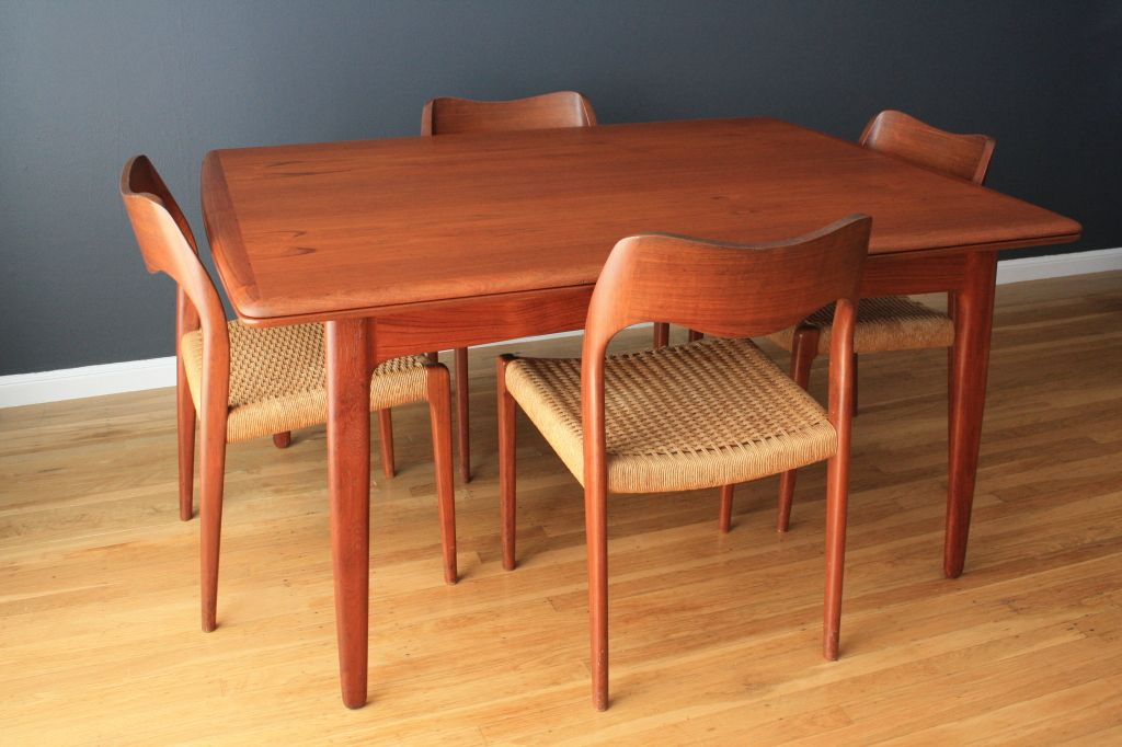 Danish Modern Teak Dining Table  Tables  Pinterest  Teak Gorgeous Scandinavian Teak Dining Room Furniture Decorating Design