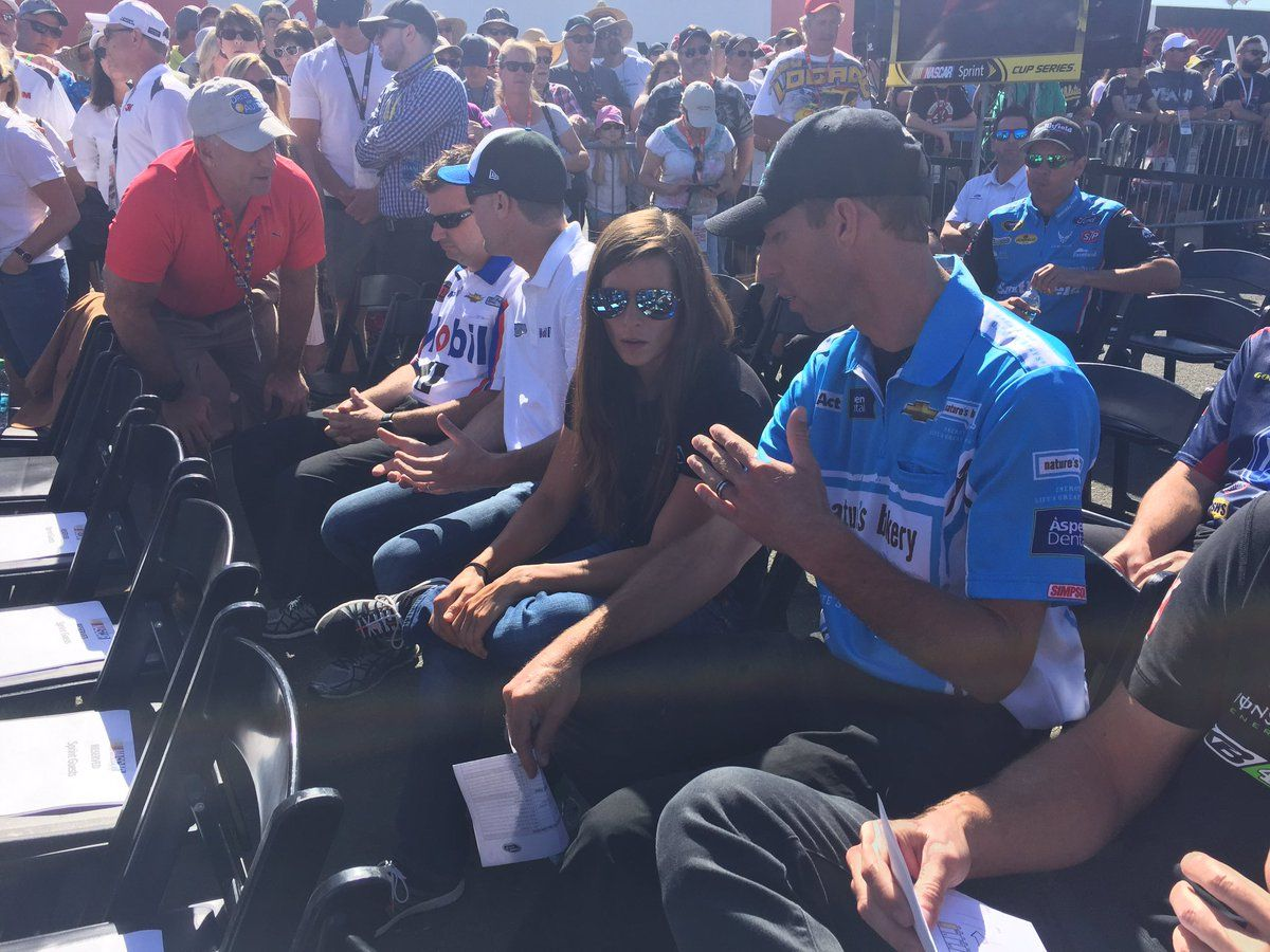 Danica and crew chief Billy Scott at the All Driver's