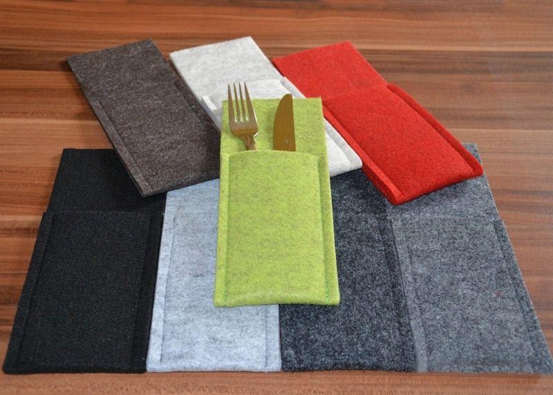 bestecktasche aus filz waschbar von filz kult auf n hprojekte bestecktasche. Black Bedroom Furniture Sets. Home Design Ideas