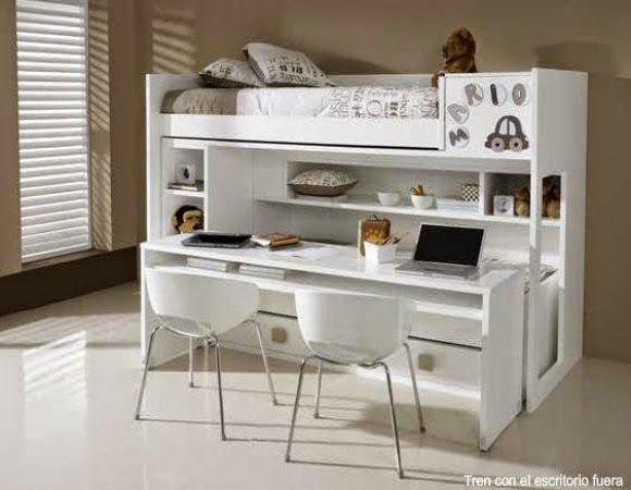 Literas con escritorio debajo dormitorios juveniles for Litera escritorio debajo
