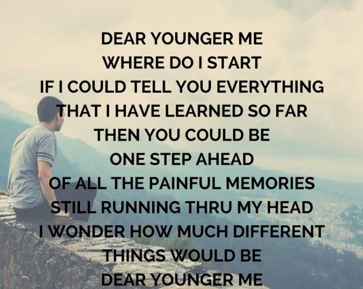 Image result for dear younger me