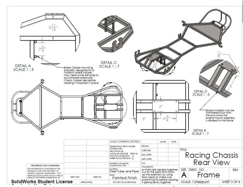 Racing Go Kart Frame Blueprints | Viewframes co
