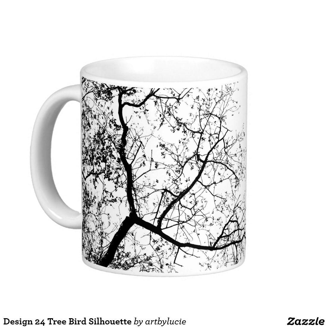 Design 24 Tree Bird Silhouette Classic White Coffee Mug