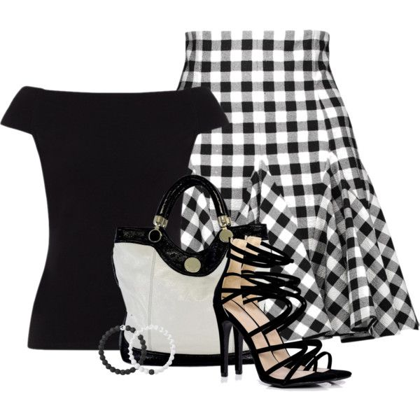 Black and White by barbarapoole on Polyvore featuring мода, People Tree, Dolce&Gabbana, Boohoo, Jill Stuart and Lokai