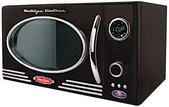 Gettington Nostalgia Retro 0 9 Cu Ft 800 Watt Microwave Nostalgia Electrics Retro Nostalgia Electrics Retro Appliances