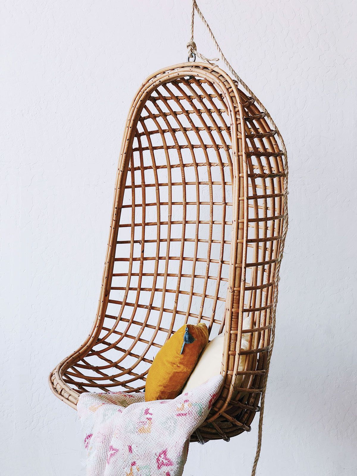 Vintage Bamboo Swing Chair