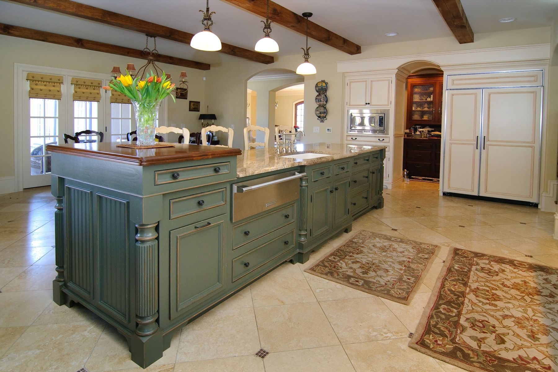 16 incredible custom kitchen islands page 2 of 2 zee for Incredible handmade furniture ideas