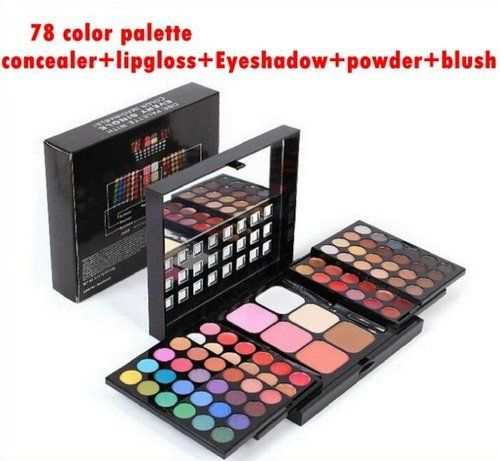 78 Color Palette Set 48 Eyeshadow 24 Lip Gloss 6 Foundation Face