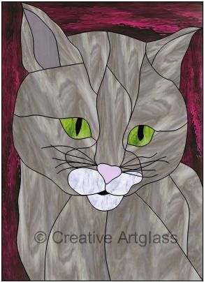 Stained glass kittie