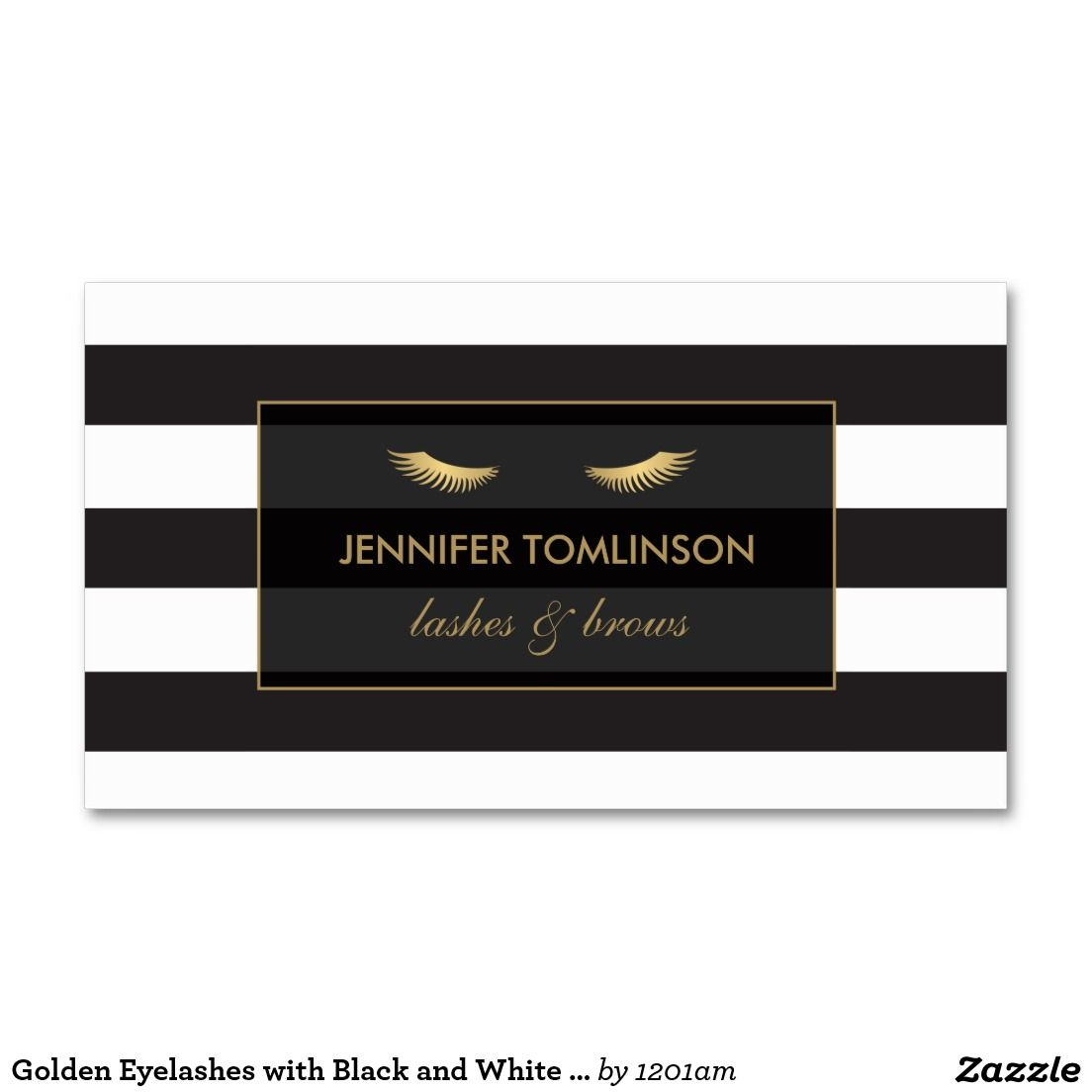 Golden eyelashes with black and white stripes business card golden eyelashes with black and white stripes business card magicingreecefo Image collections