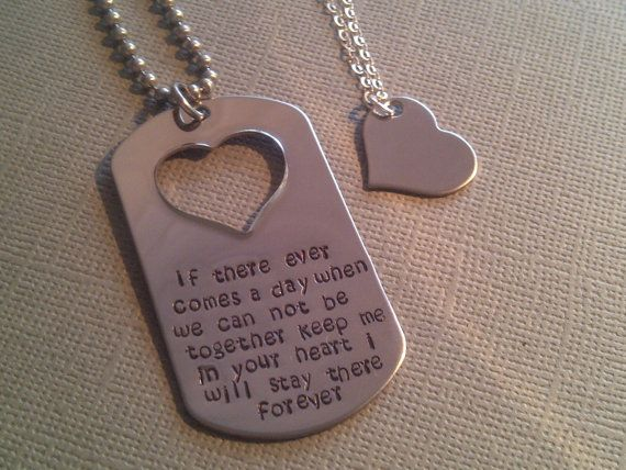 Winnie-the-Pooh Love Quote Stainless Steel Military Style Dog Tag Necklace Chain