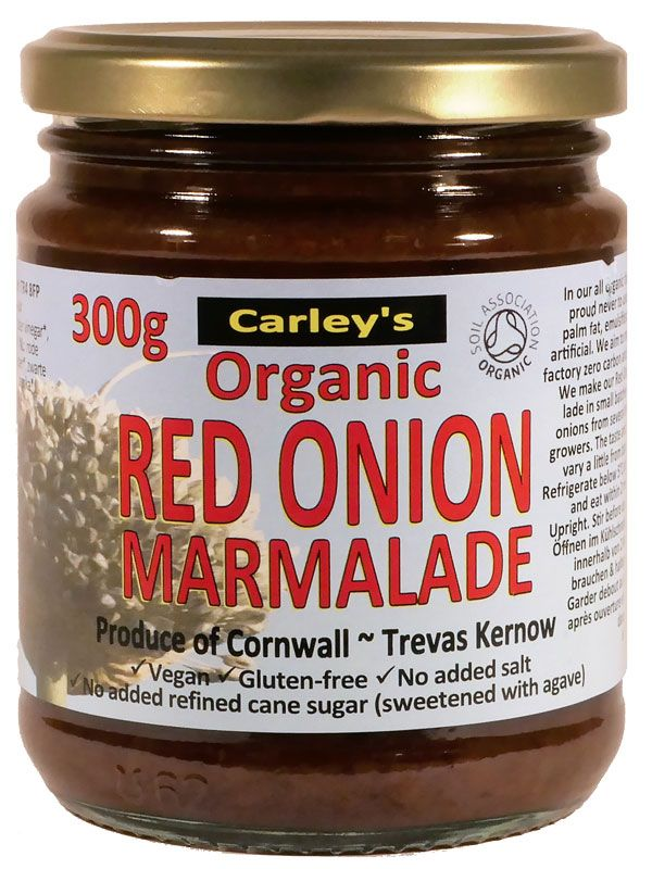 Red Onion Marmalade 300g, Organic (Carleys)