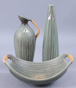 lehmann keramik 160849. PARTI KERAMIK, 3 delar, Lehmann Keramik, Langeland  lehmann keramik