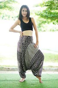 a3842157f8 Harem Pants Aladdin Casual Boho Baggy Men Woman Yoga Gypsy Indian Hippie  Trouser   eBay