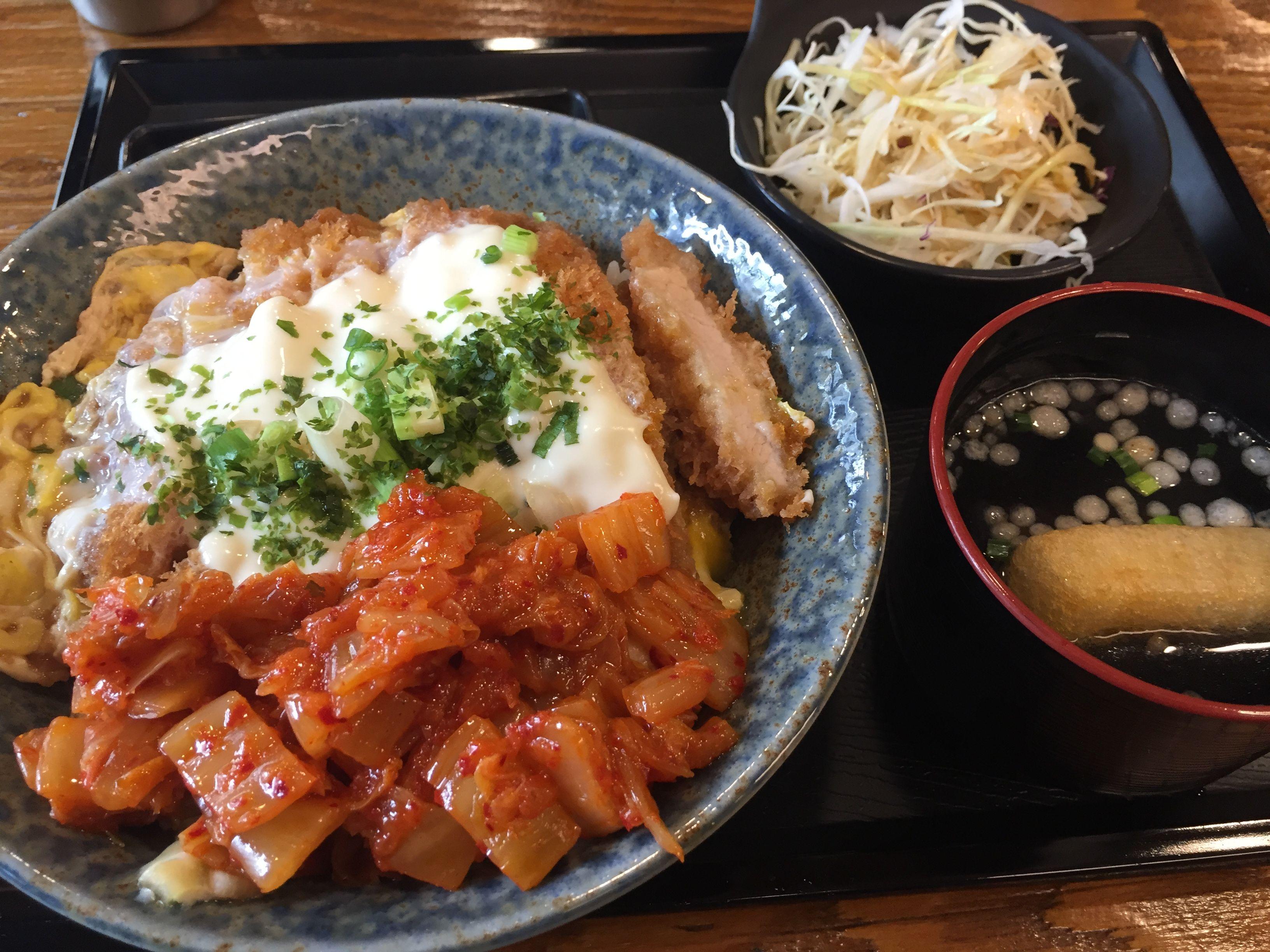 2016.6.16 점심. 김치 가츠동