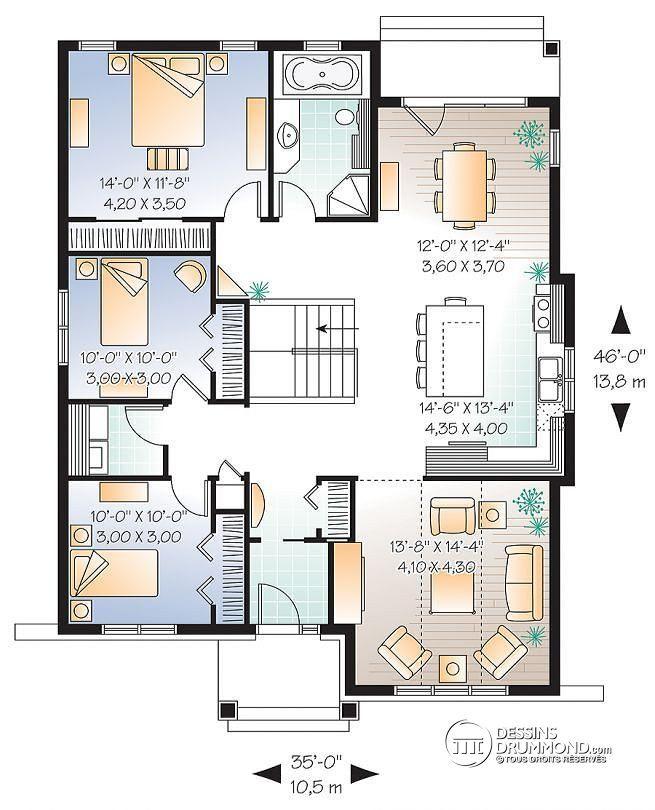 Plan De Maison Unifamiliale Keystone No 3104 Décoration D
