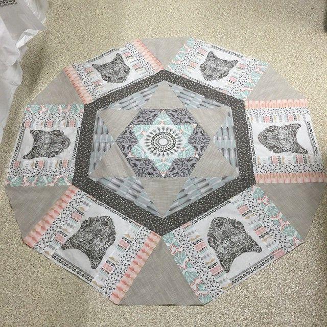 @quiltjane - #coyotefabric @hawthornethreads in progress