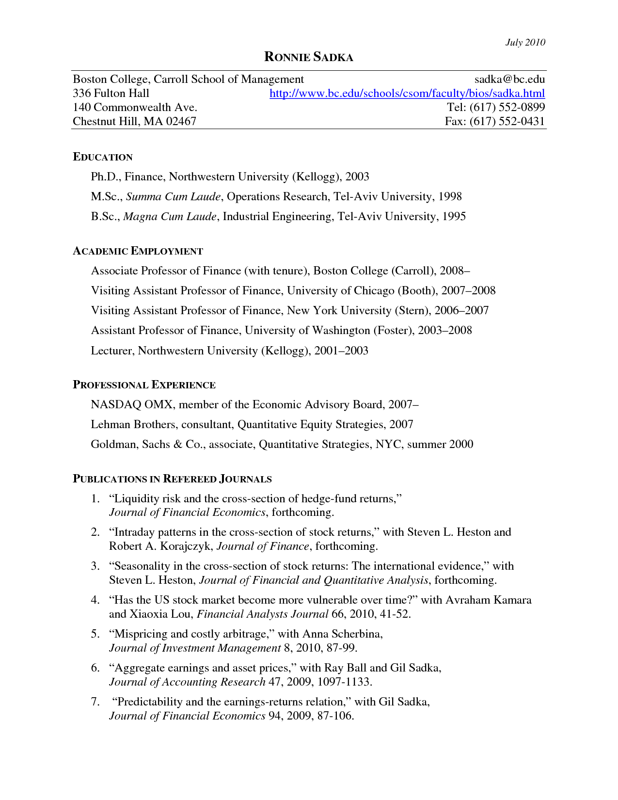 Cv Templates Harvard (1 di 2020 Proposal