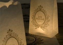 #Lichttüten Just Married #Hochzeitsshop #Confetti #Hochzeit #Deko