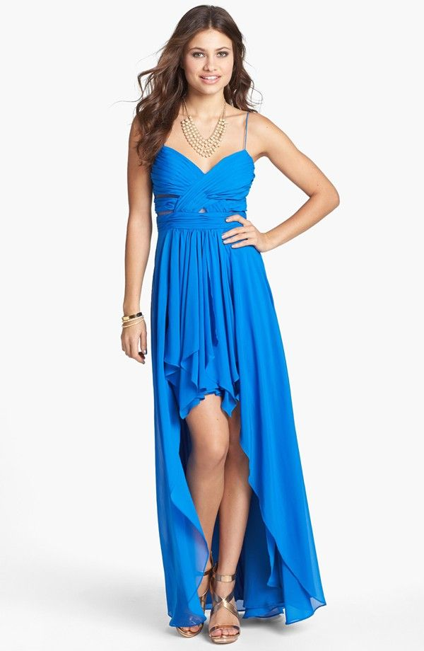 Prom Dress of the Day: Hailey Logan Pleated Chiffon High/Low Gown ...
