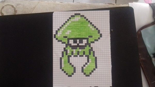 Splatoon Dessin Petit Carreau Pixel Art Pokemon Et Pixel