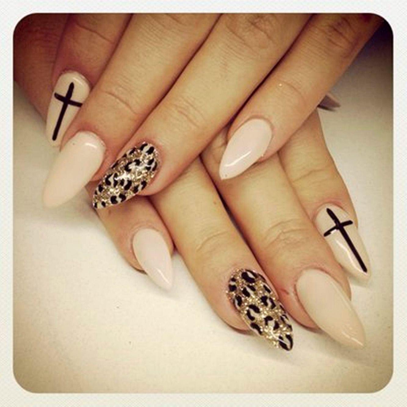 Cheetah nude cat acrylic nails   Nails   Pinterest